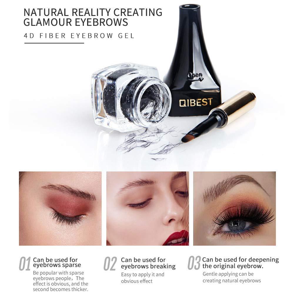 Amazon.com : Girls 3D Eyebrow Extensions Gel Set Clearance- Iuhan Waterproof 3D Eyebrow Extensions Gel Fiber Building Brow Hair and Eye Brow Brush (Black) ...