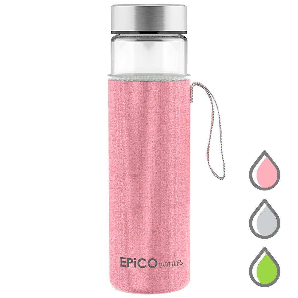 EPiCO BOTTLES Trinkflasche Glas Classic - 600ml | Premium ...