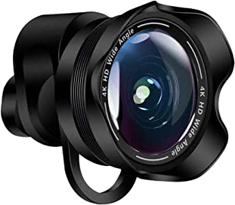 INSSTRO 2 in 1 Camera Lens Kit, 0.6X Wide Angle Lens + Fisheye Lens Lens Clip on Cell Phone Lens for iPhone Android