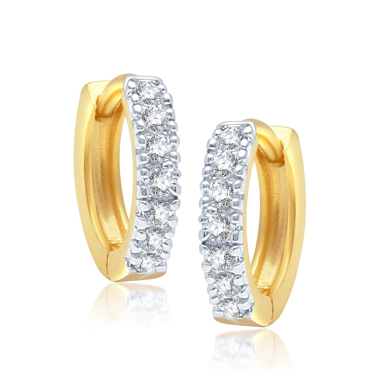 twist earrings offers s jewellery youme stud gold women a jewelry womens of golden range yellow