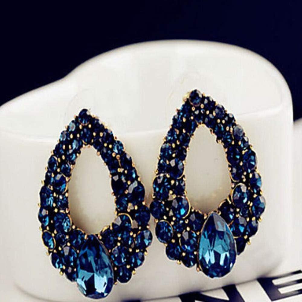 Pendientes de gota de zafiro de MUATE para mujer, estilo vintage, para fiesta, trabajo, casual, color azul real, para boda, fiesta, regalo de mascarada
