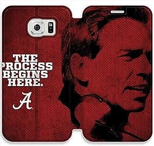 samsung galaxy S6 Flip Leather Phone Case Alabama Crimson Tide TY1OR3239632