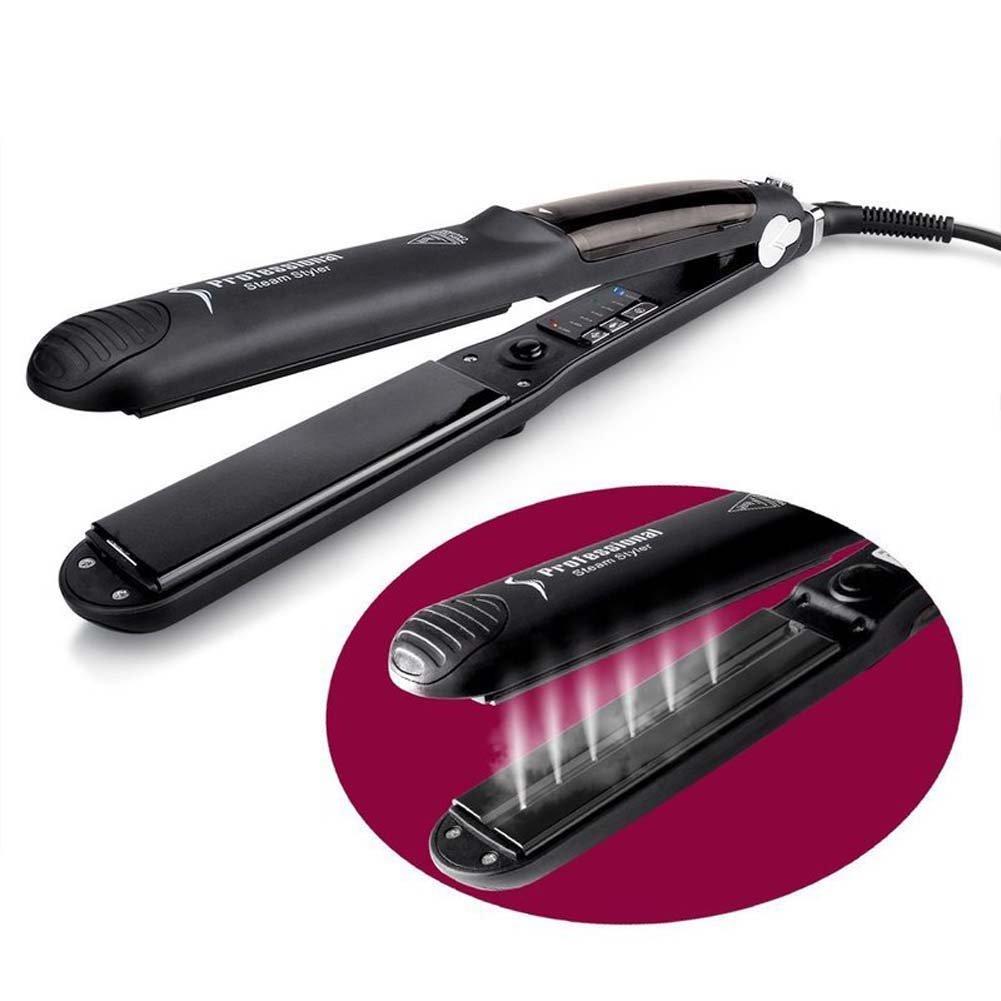 Plancha de pelo de vapor/alisador de pelo rizador/plancha de cerámica turmalina/con bolsa de viaje de doble voltaje de hierro de viaje para uso en todo el ...