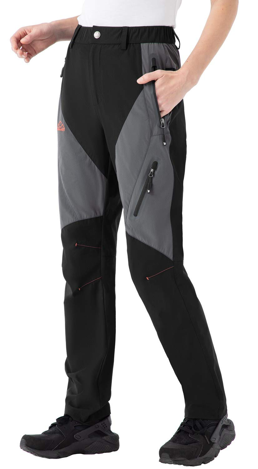 Rdruko Women's Hiking Pants Water-Resistant Quick Dry UPF 50 Travel Camping Work Pants Zipper Pockets