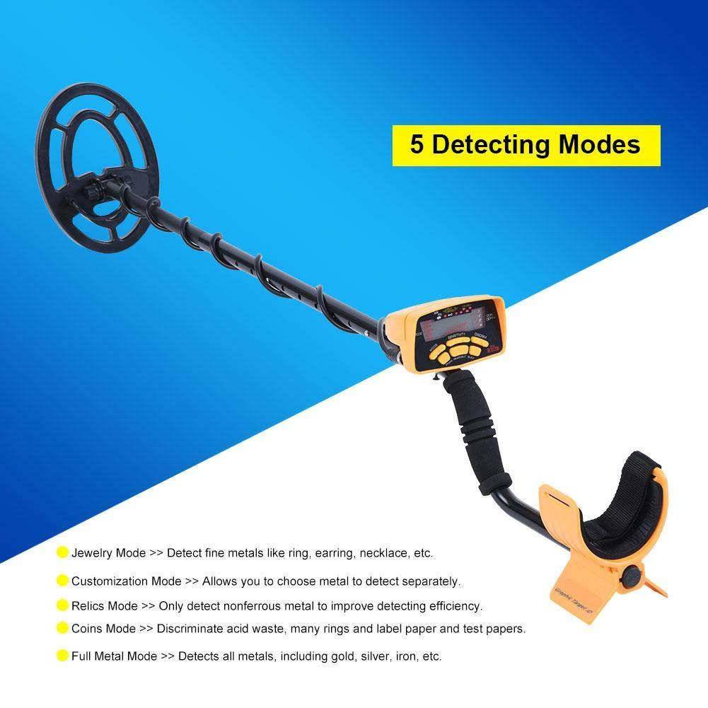 Detector de Metales MD6250, 5 Modos de escaneo de hasta 2 Metros con Pantalla LCD (versión Mejorada): Amazon.es: Electrónica