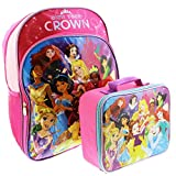 Disney Princess 16 inch Backpack and Lunch Box Set