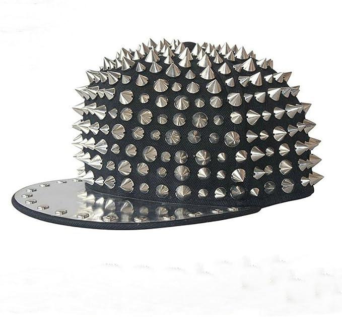 Amazon.com: maybao Studded snapback Gorra de remaches Spike ...