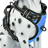 No Pull Dog Harness with Front Clip, Comfortable Reflective Pet Vest Harness