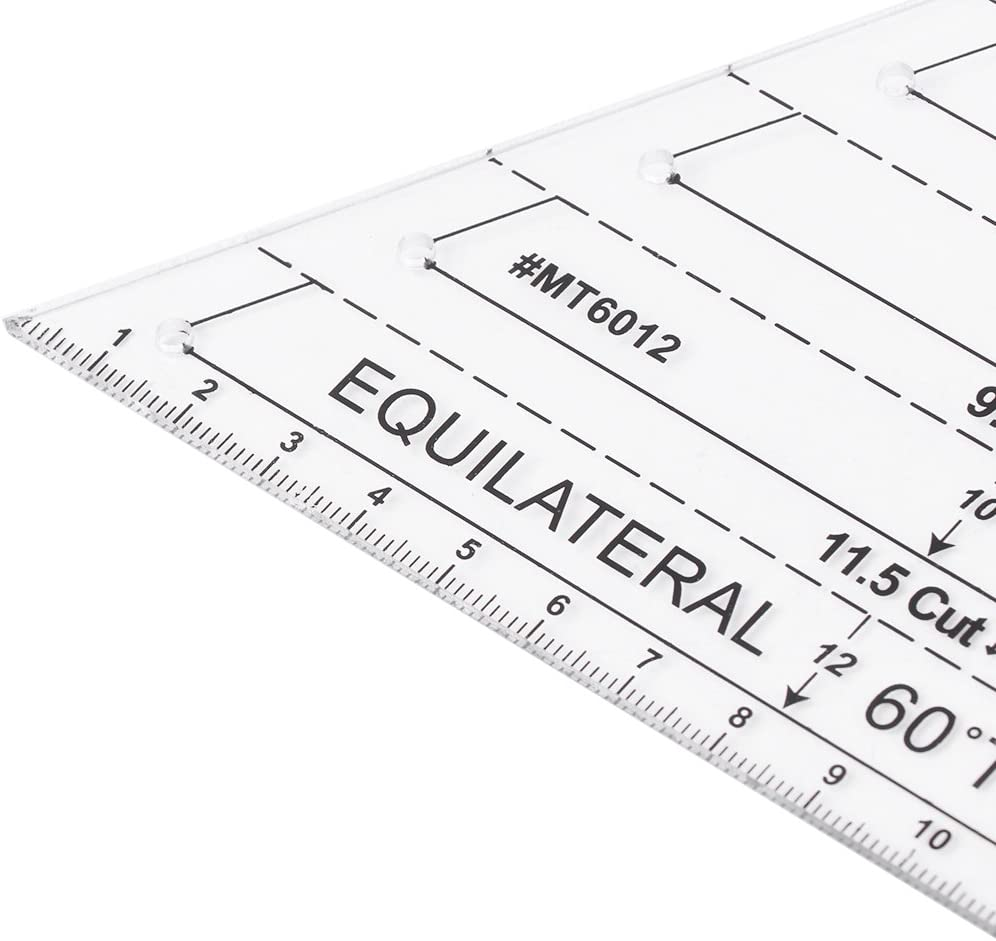 Xuniu Klar Patchwork N/ähen Lineal f/ür Ma/ß Schneiderei Schneider Craft Tool Set