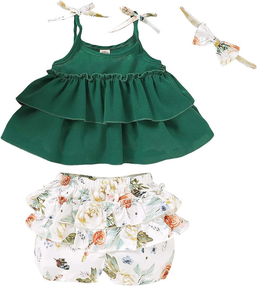 SANMIO Conjuntos de Ropa para Niñas Pequeñas, Conjunto de Pantalones Vaqueros de Flores para Niñas Bebés Volantes Conjuntos de Manga Corta de Manga Larga