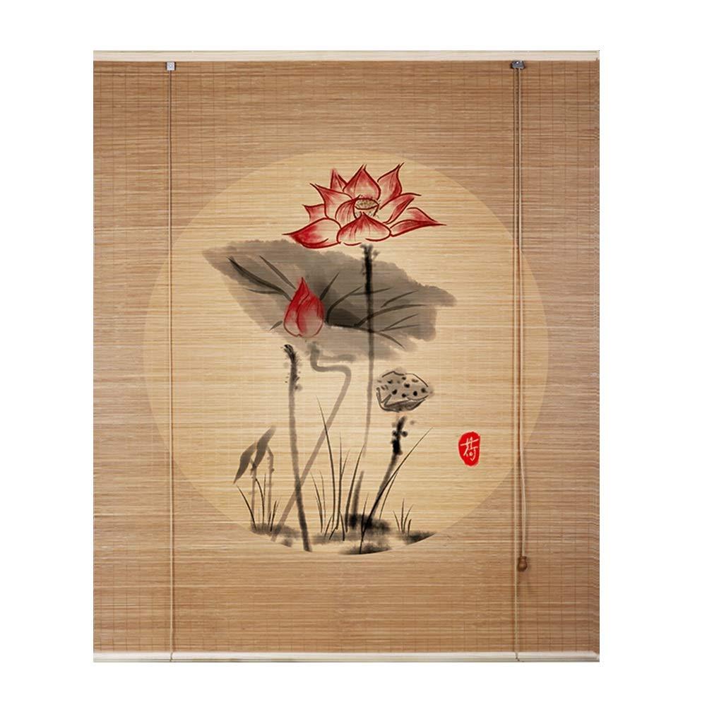 LIANGJUN 竹ロールスクリーン竹はウィンドウシェードを竹すだれ竹製カーテン日焼け止め ぶら下げ絵画 シェーディング シェード 織り 調整可能 、3色 - カスタマイズ可能 (Color : A, Size : 120x180cm) 120x180cm A B07SQWBP6H