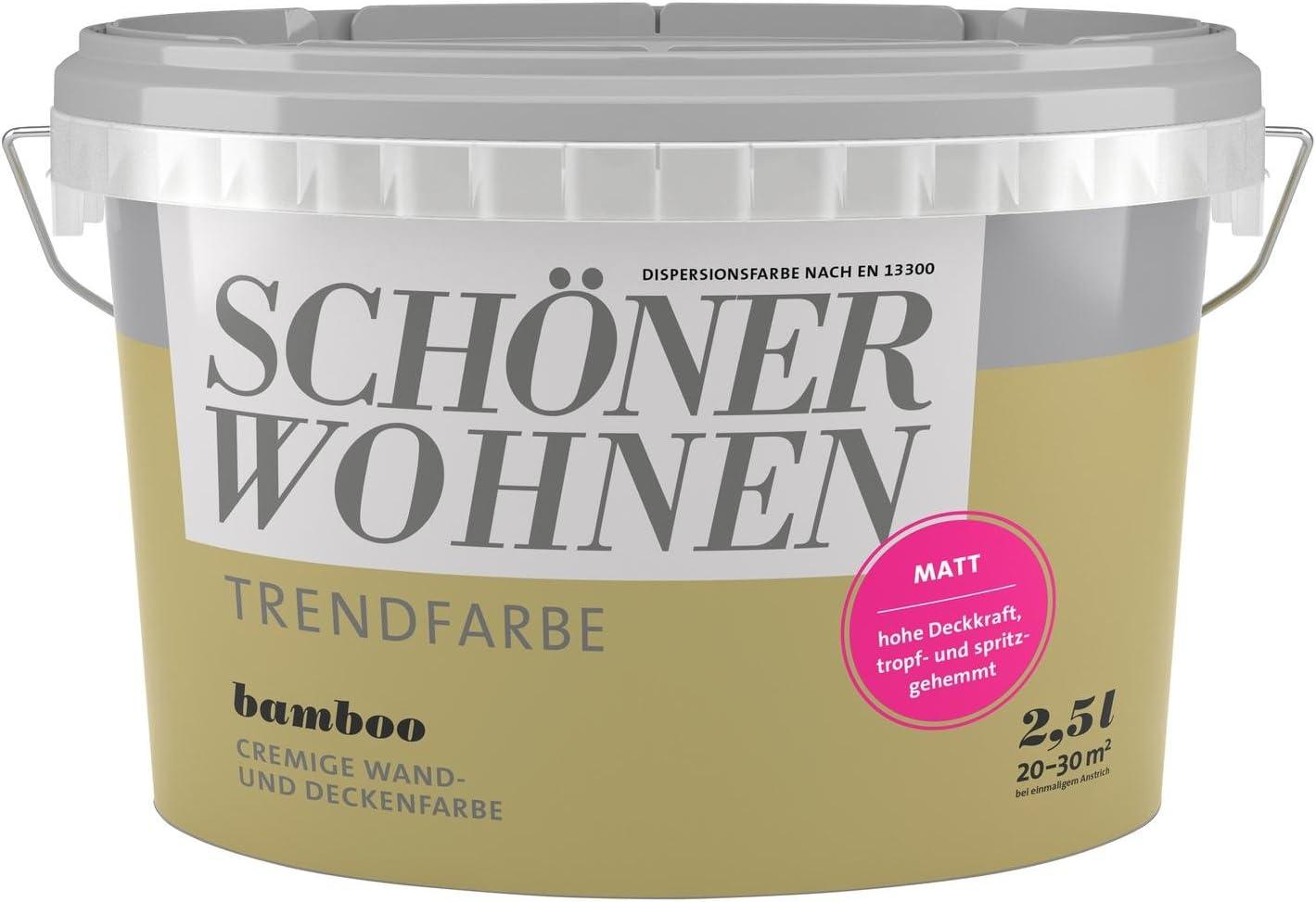 2 5 Liter Schoner Wohnen Trendfarbe Matt Bamboo Amazon De Baumarkt