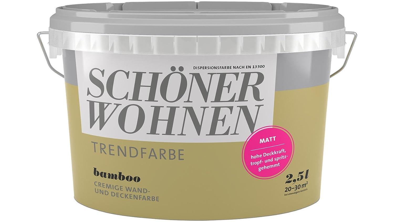 2,5 Liter Schöner Wohnen Trendfarbe matt BAMBOO: Amazon.de: Baumarkt