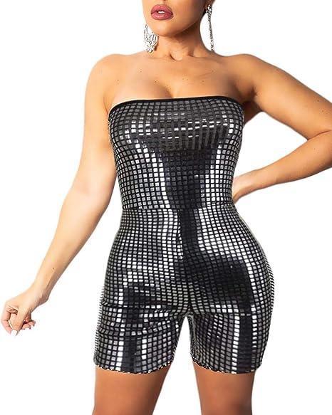 Amazon.com: Cosygal - Mini vestido de mujer con lentejuelas ...