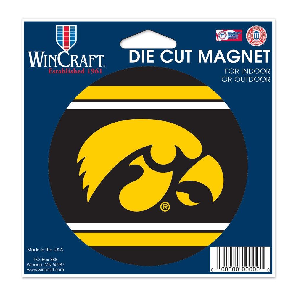 Iowa Hawkeyes Official NCAA 4.5 inch x 6 inch Car Magnet by Wincraft
