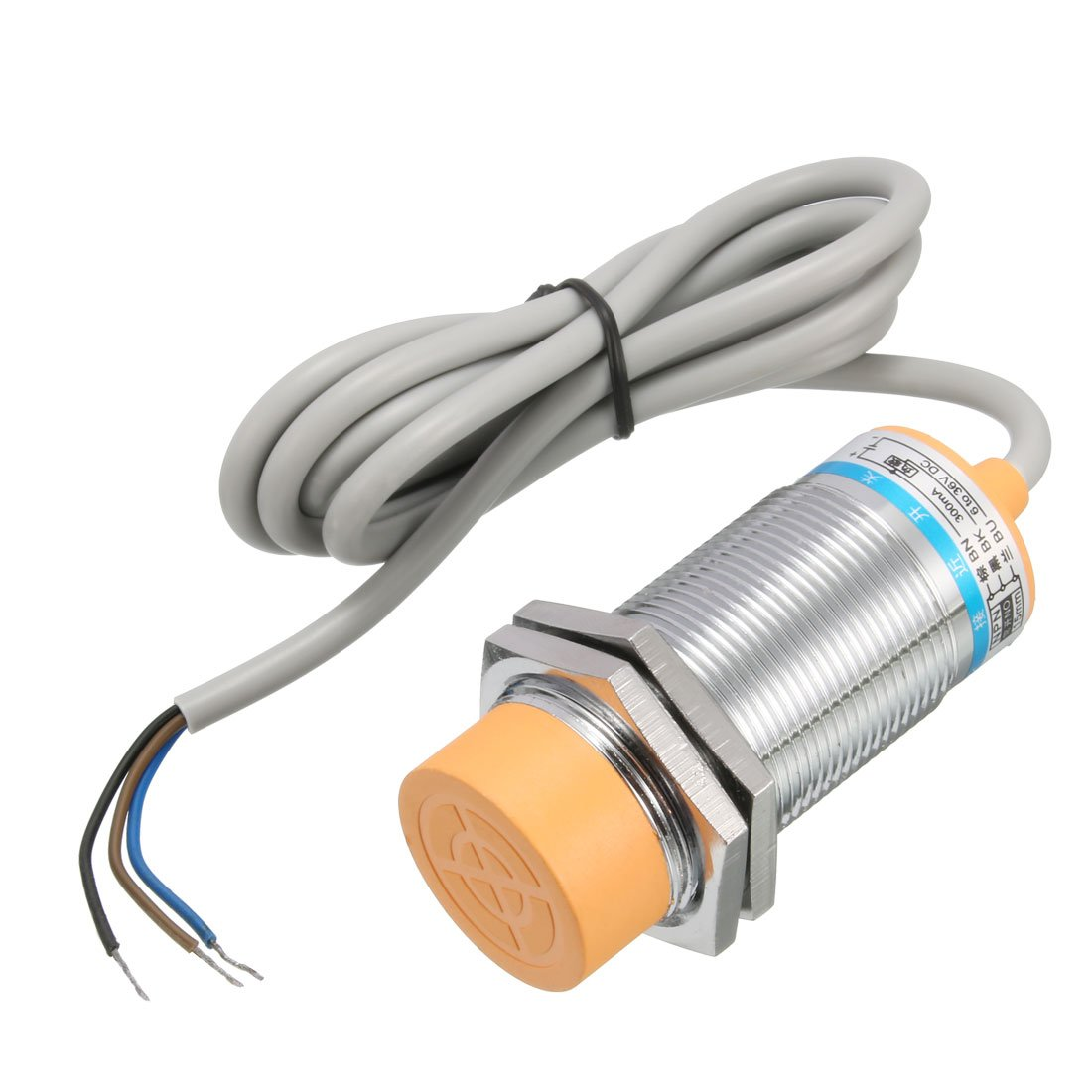 uxcell 15mm Approach Inductive Proximity Sensor Switch Detector NPN NO DC 6-36V 300mA 3-Wire LJ30A3-15-Z/BX