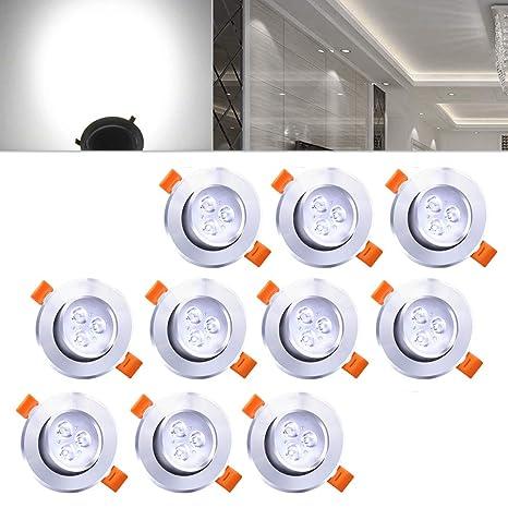 Hengda® ojos de buey LED Focos LED Lámpara | 10X 3W Blanco frío 245LM |