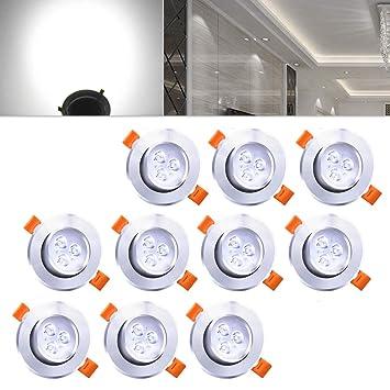 Lampen Spots Küche | Hengda Einbaustrahler 10er Pack 3w Led Kaltweiss Deckenstrahler Spot