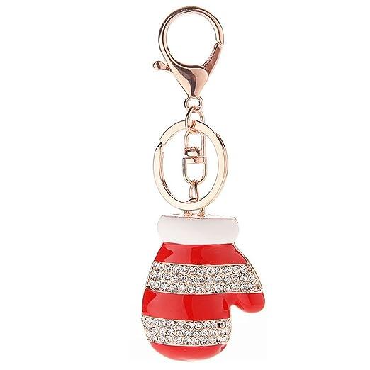 ZTL Glitter Rhinestone Santa Claus Keychain Bag Purse Charm Pendant ... 45af52043