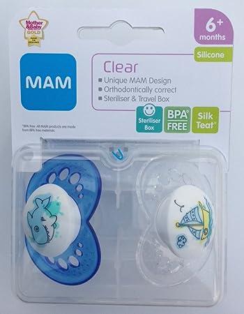 Amazon.com: MAM chupete transparente individual Pack 6 M + ...