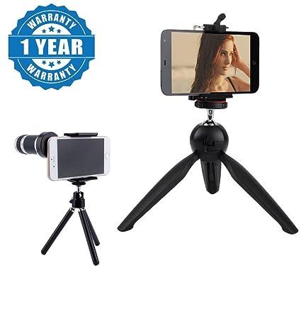 Drumstone 8X Optical Zoom Telescope Mobile Camera Lens with 228 Mini Tripod, Flexible Stand Lens Kits