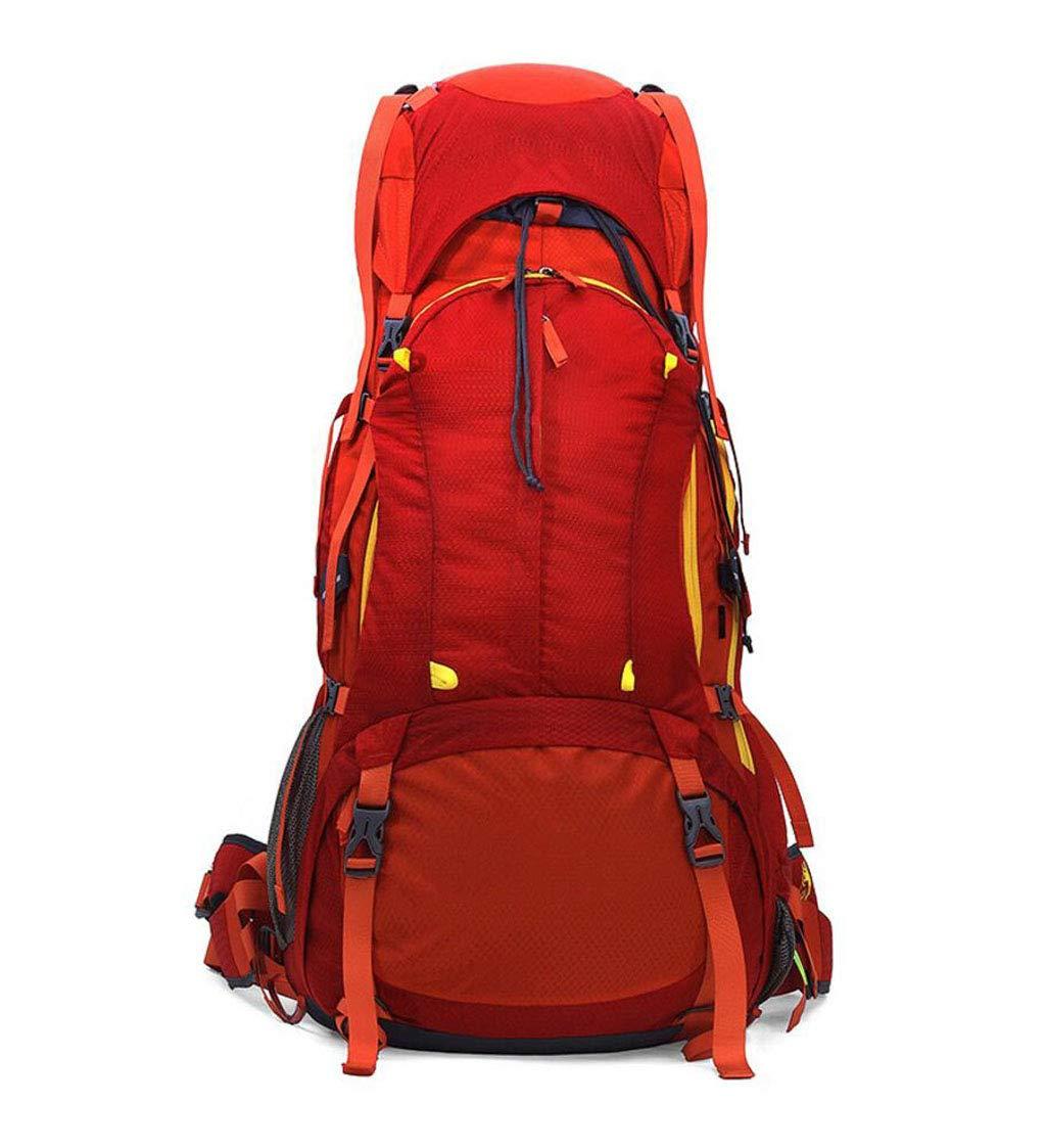 FGSJEJ バックパック 多機能登山バッグ アウトドア 旅行 男女兼用 ショルダーバッグ 80L  レッド B07GTKQBNY
