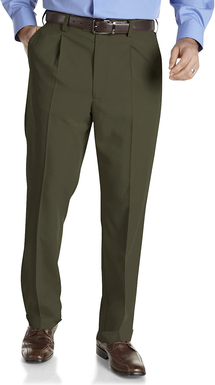 Gold Series by DXL Big and Tall Mens Sorbtek Pleated Pants