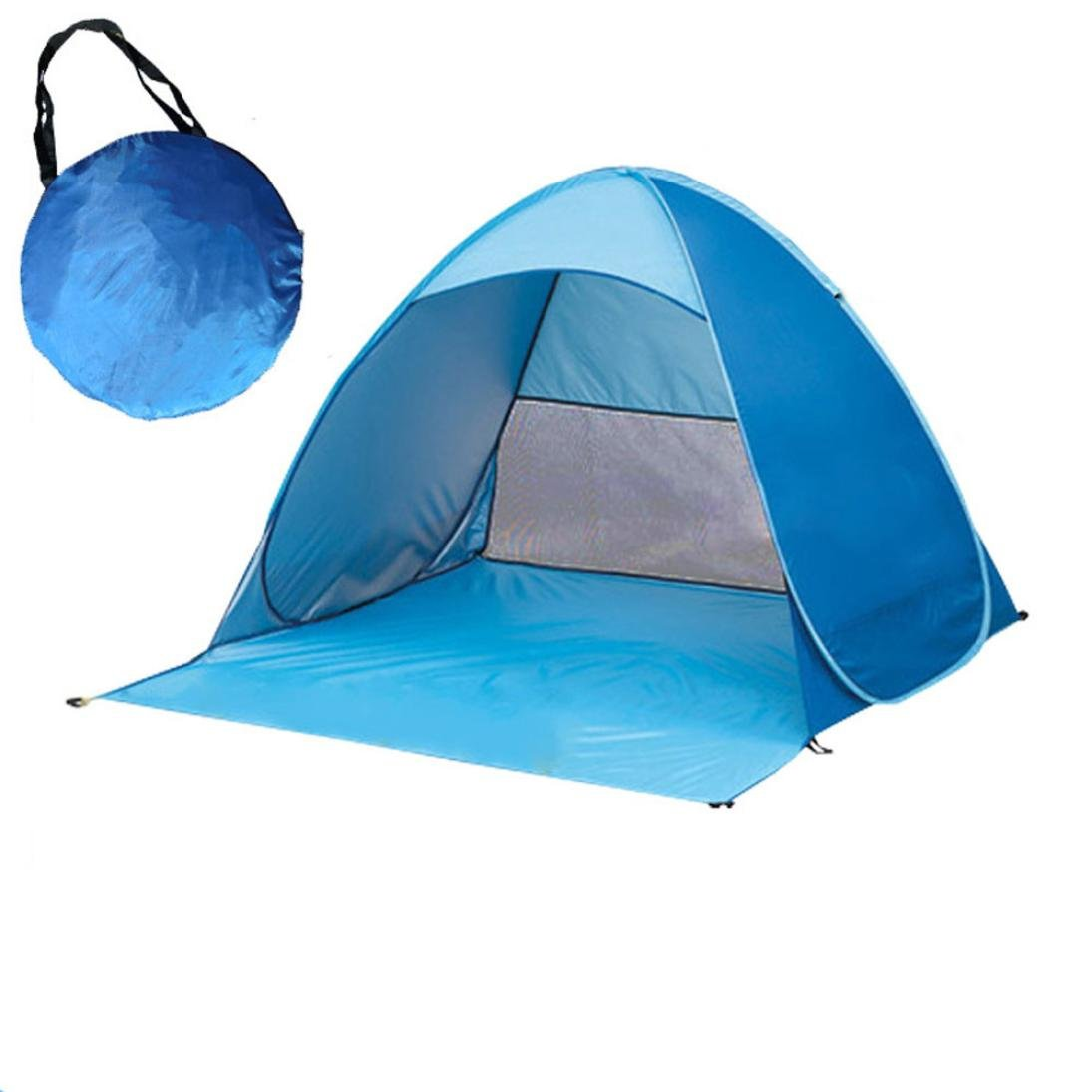 AutumnFall Camping Tent, 2018 New Style Fully Automatic Set-up Camping Beach Shade Tent Speed Open Outdoor UV Protection For Camping Hiking Picnic Fishing Beach (Blue)