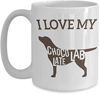 Life is Better with Chocolate Lab Labrador Watercolor Mug Dog Lover Coffee Cup