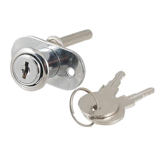 Aleación de aluminio cerrojo de leva para cajones de armarios armario Locker 16 mm + llaves