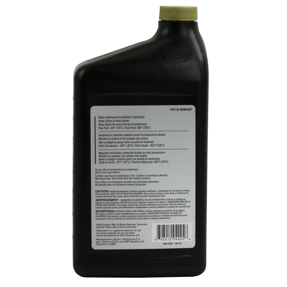 Powermate Px P018-0084SP 100% Full Synthetic Air Compressor Oil, by Powermate PX (Image #2)