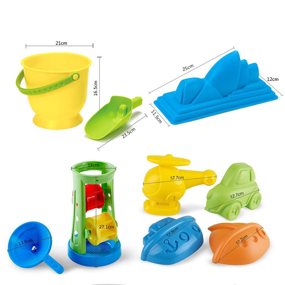 A NI. Strandspielzeug - Kinder-Strandspielzeug Läufer Sanduhr Set 1-6 Babyspielzeug,A
