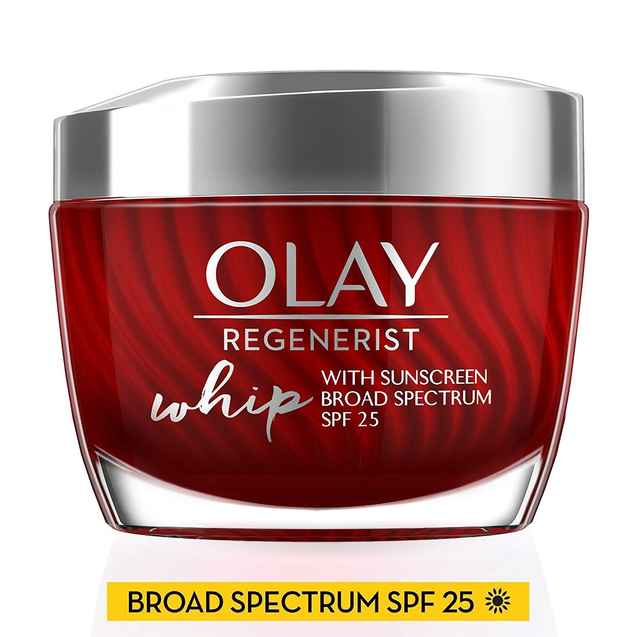 Light Face Moisturizer with SPF 25 by Olay Regenerist Whip with Collagen Peptides Anti-Aging Face Cream 1.7 Oz, 2 Month Supply
