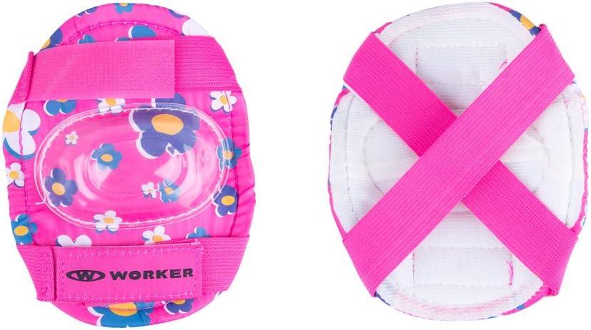 casco set de protecci/ón tallas 26-29 Juego de patines infantiles de l/ínea Polly LED con ruedas iluminadas 30-33,/ajustables
