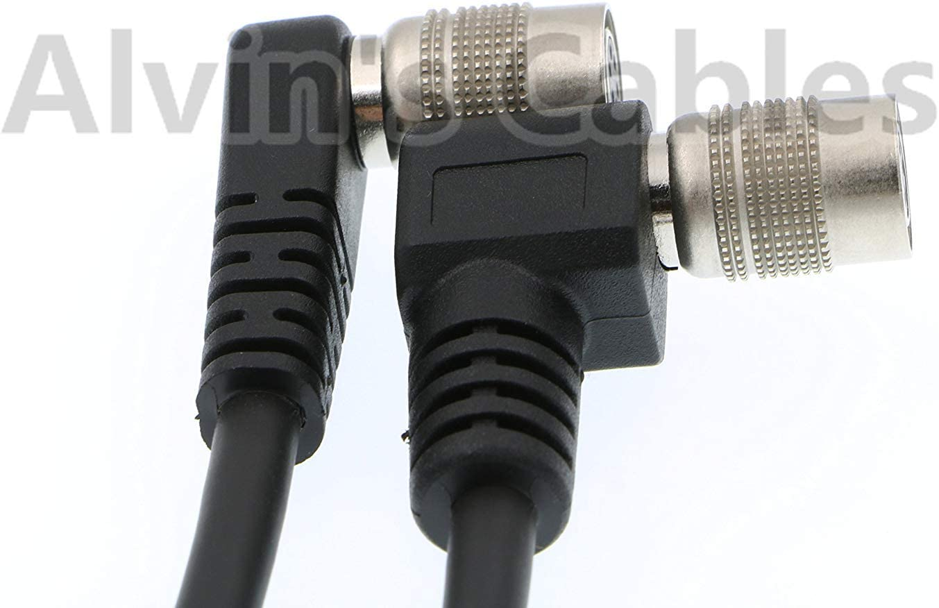 Alvins Cables Trigger Strobe PWS Cable for TIS GigE Camera Hirose Right Angle 6 pin to Open end Cable for Basler