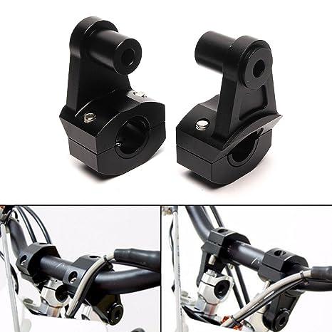 Triclicks 2X Abrazadera Universal 22/28 mm del Manillar de la Motocicleta, Soporte Elevador