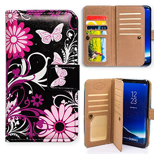 Galaxy S9 Plus Case,Bcov Butterfly Multifunction Wallet Leather Case Cover for Samsung Galaxy S9 Plus / +