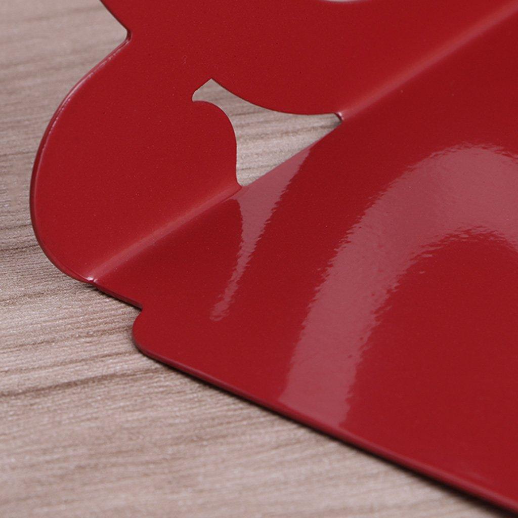 A0127/serra libro Stand di libro Libreria Blocco di libro Note Supporto portaoggetti forniture per ufficio a casa creativo decorazione casa metallo 12.3x10x19.5cm rosso