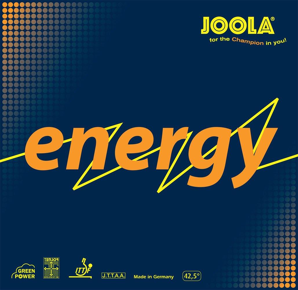 Joola Energyグリーン電源Table Tennisラバー B008FXQ5J4 ブラック 2-mm