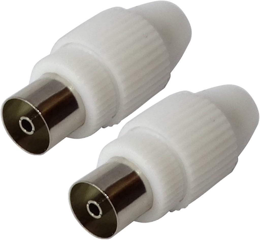 AERZETIX: 2 x Conectores Enchufe para Antena TV Cable coaxial ...