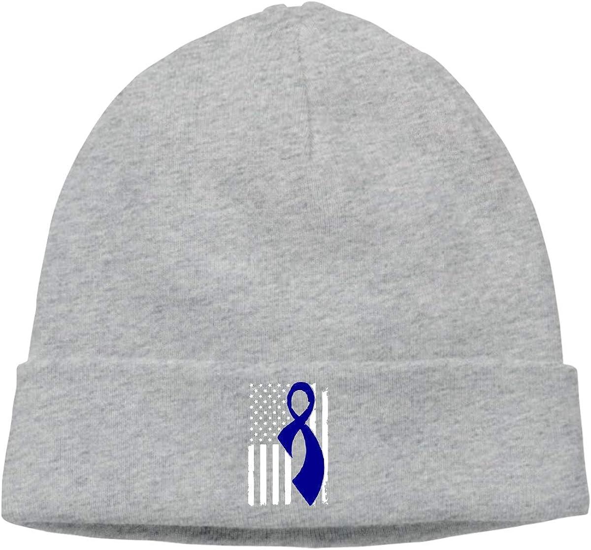 Colon Cancer Awareness Flag Toboggan Cap,Unisex Fashion Hipster Beanie Cap/&Hip-hop Cap/&Set Head Cap/&Skull Cap