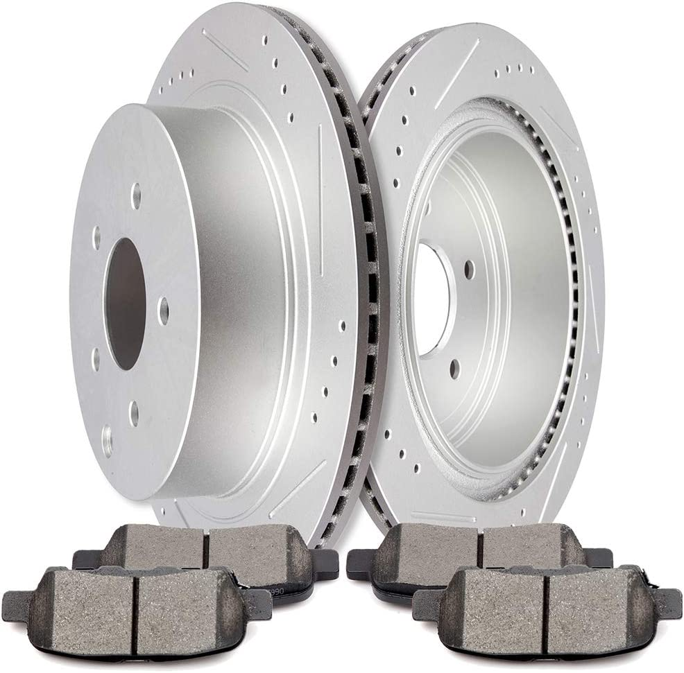 Front And Rear Brake Rotors /& Ceramic Pads For Infiniti FX45 FX35 QX70
