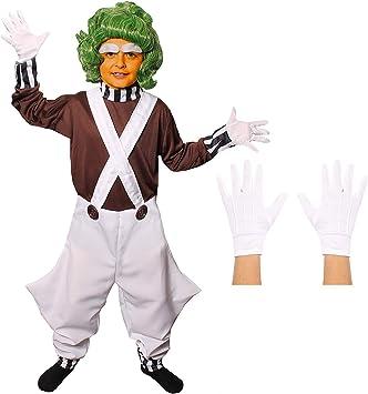 Disfraz de trabajador de fábrica de chocolate para niño: Amazon.es ...