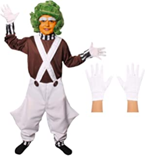 Fun Shack Adulte Ouvrier Oompa-Loompas Perruque