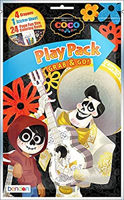 Pack of 12 Disney Pixar Coco Grab and Go Play Packs