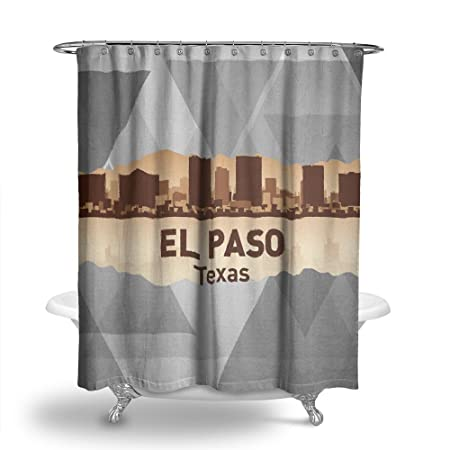 Izzy Us City El Paso Texas Washroom Bathroom Water Proof Fabric