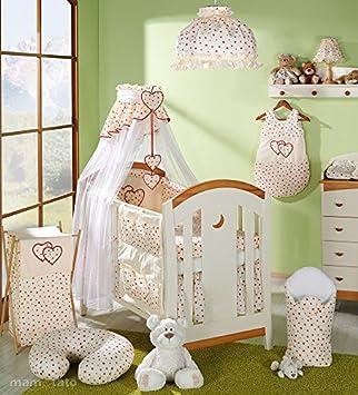 Parure de lit 14 pièces écru fleuri bébé linge de lit gigoteuse nid ...