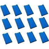 12 Packs de glace avec 12 x 200 ml-lot , bleu , Idéal pour les sacoches et bacs à glace.