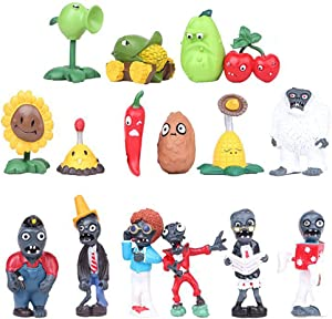 Plants vs Zombies Toys Series Character Show Toys Series PVC Toys.16 Piece (A)