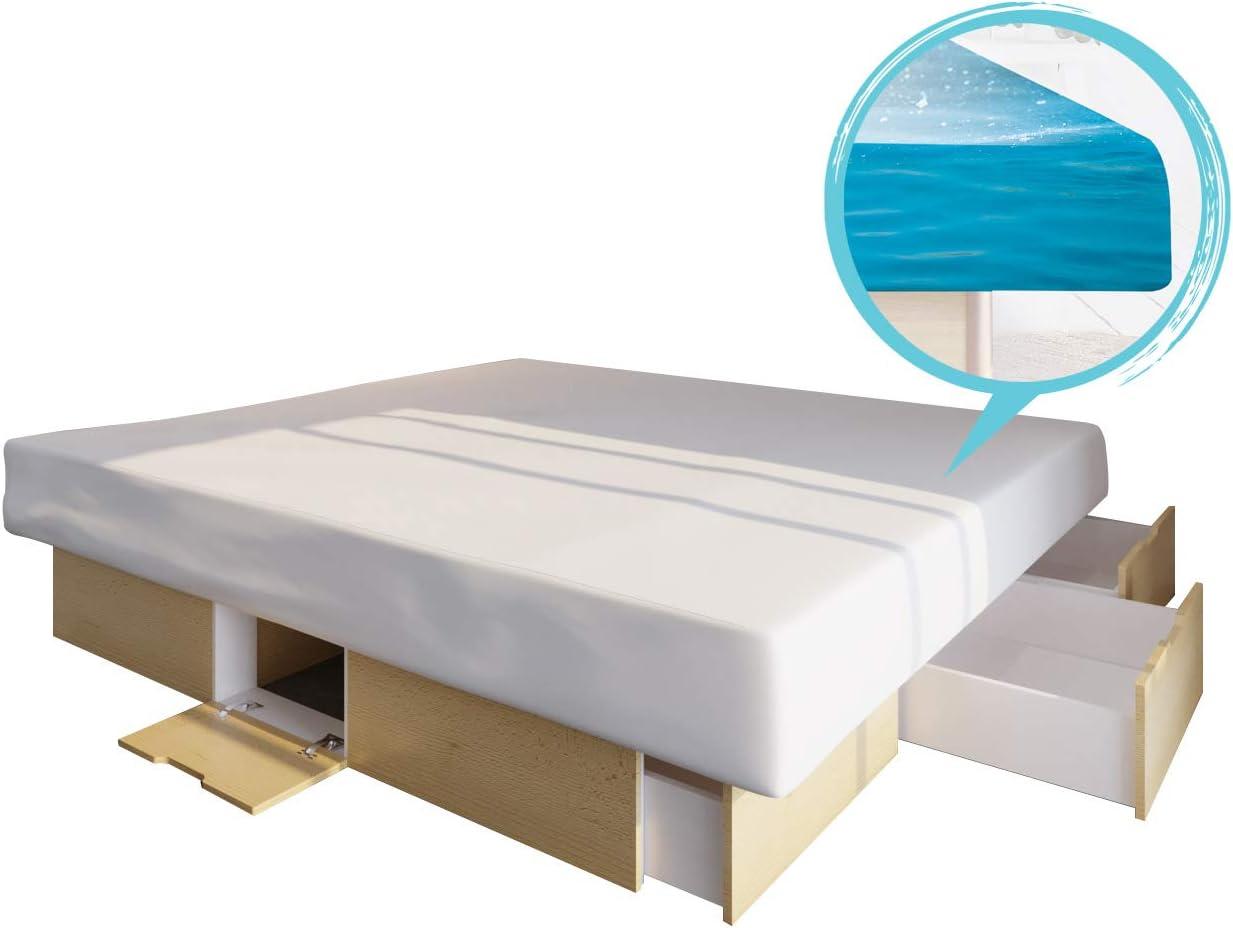 Platz 1 – Bellvita Wasserbett kaufen mit Schubladen im Unterbausockel
